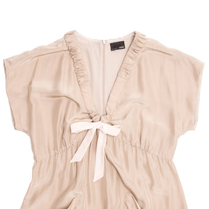 Fendi Taupe Silk Crepe Dress
