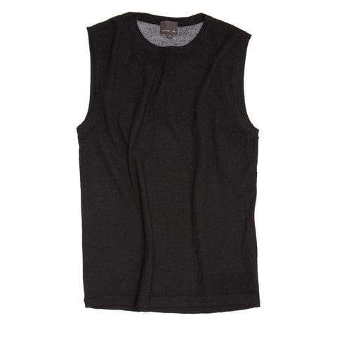 Black Cashmere Knit Vest
