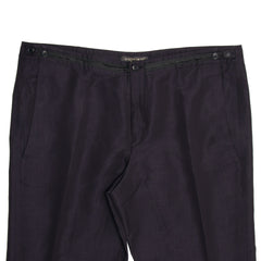 Navy Wool Classic Slack Pants