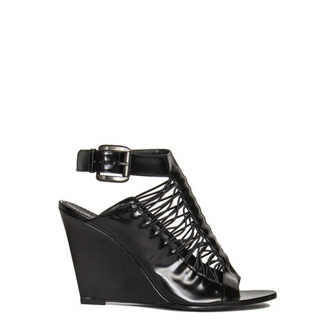 Givenchy Black Wedge Sandals, size 40.5 (Italian)