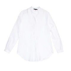 Find an authentic preowned Gucci White Cotton & Silk Shirt, size 48 (Italian) at BunnyJack, where a portion of every sale goes to charity.