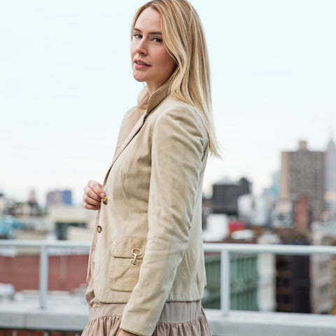 Beige Jacket With Gold Clasps