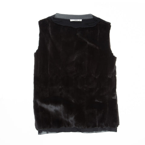 Find an authentic preowned Prada Black Fur & Cashmere Top size 42 (Italian) at BunnyJack, where up to 50% of each sale price is donated to charity.