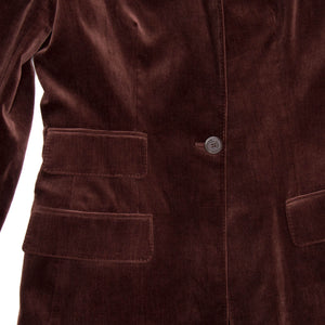 Find an authentic preowned Hermès Maroon Cotton Velvet Blazer, size 40 (French) at BunnyJack, where a portion of every sale goes to charity.