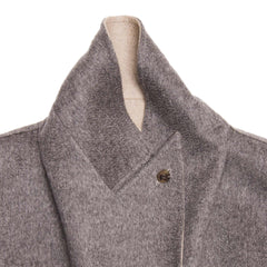 Grey Cashmere Belted Coat