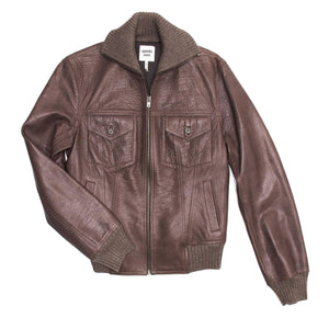 Find an authentic preowned Hermès Brown Bison Bomber Jacket, size 42 (French) at BunnyJack, where a portion of every sale goes to charity.