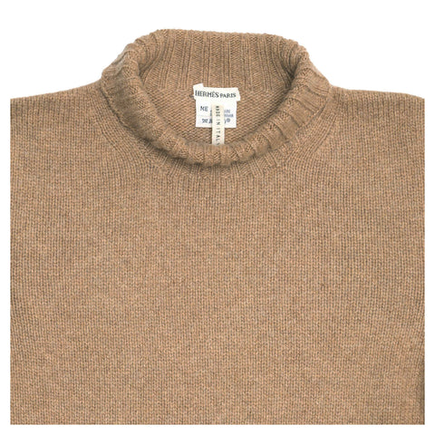 Find an authentic preowned Hermès Camel Cashmere Sweater, size M at BunnyJack, where a portion of every sale goes to charity.