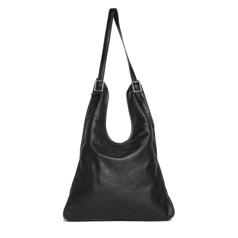 Hermès Black Leather Shoulder Bag