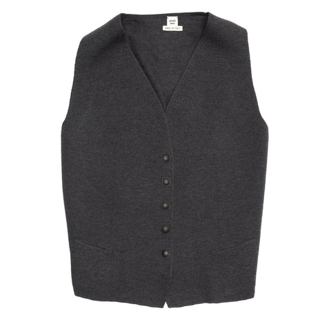 Hermès Grey Wool Knit Vest, size 40 (French)