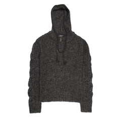 Grey Multicolor Hooded Sweather