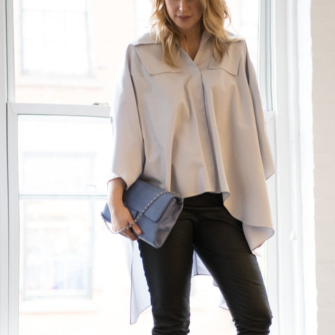 Sky Blue Batwing Shirt