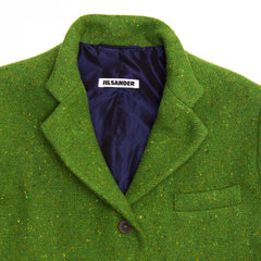 Find an authentic preowned Jil Sander Green Wool Tweed Blazer, size 42 (French) at BunnyJack, where a portion of every sale goes to charity.