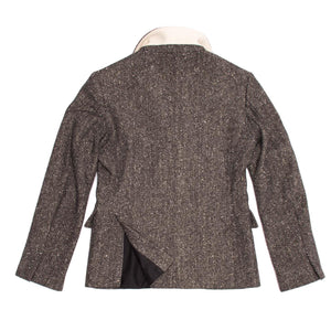 Find an authentic preowned Jill Sander grey herringbone blazer at BunnyJack, where a portion of each sale goes to a deserving charity.