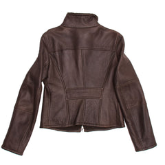 Find authentic preowned Jil Sander Brown Shearling Cropped Jacket, size 40 (French) at BunnyJack, where a portion of every sale goes to charity.