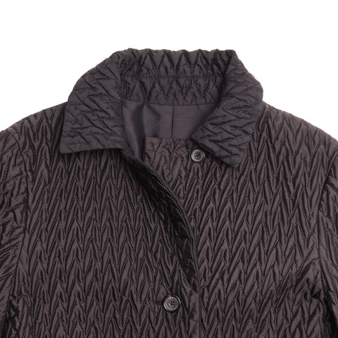 Find an authentic preowned Jil Sander Black Reversible Quilted Coat, size 38 (French) at BunnyJack, where a portion of every sale goes to charity.