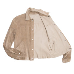 Find an authentic preowned Jil Sander Tan Leather & Suede Reversible Jacket, size 40 (French) at BunnyJack, where a portion of every sale goes to charity.