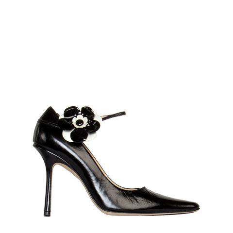 Black Patent Stiletto Pumps