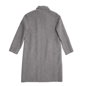 Find an authentic preowned Jil Sander Grey Cashmere Double Breasted Coat, size 38 (French) at BunnyJack, where a portion of every sale goes to charity.