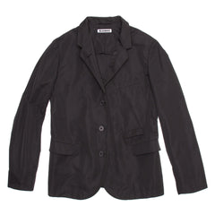 Find an authentic preowned Jil Sander Black Single Breasted Blazer, size 38 (French) at BunnyJack, where a portion of every sale goes to charity.