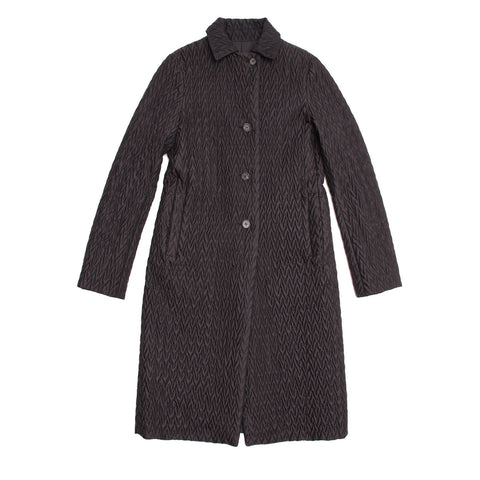 Jil Sander Black Reversible Quilted Coat, size 38 (French)