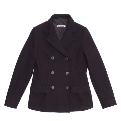 Jil Sander Navy Wool Double Breasted Jacket, size 40 (French)