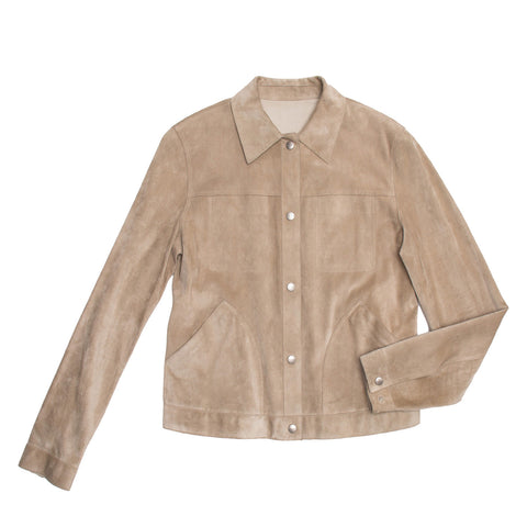 Jil Sander Tan Leather & Suede Reversible Jacket, size 40 (French)