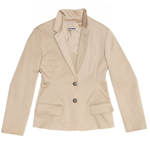 Jil Sander Taupe Cotton Blazer, size 40 (French)
