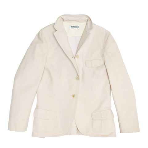 Jil Sander Ivory Cotton Blazer, size 40 (French)