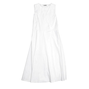 Find an authentic preowned Jil Sander White Cotton Wrap Dress, size 42 (French) at BunnyJack, where a portion of every sale goes to charity.