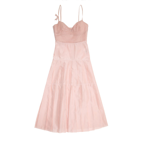 Jil Sander Pink Bustier Pleated Dress, size 40 (French)