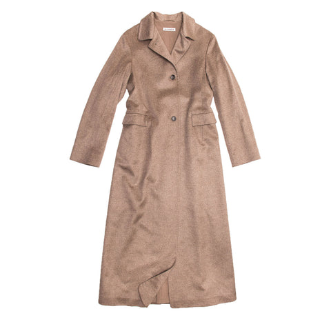 Jil Sander Camel Cashmere & Mink Long Coat, size 38 (French)