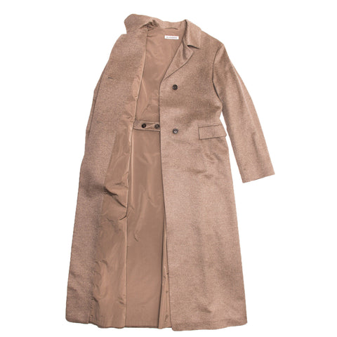 Find Jil Sander camel hair blazers as well as this authentic preowned camel cashmere & mink long coat, size 38 (French) at BunnyJack.