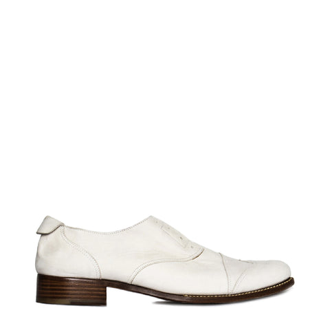 Jil Sander White Leather Brogue Shoes, size 40 (Italian)