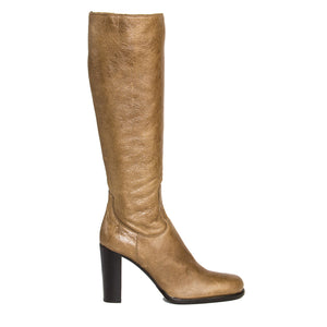 Find authentic preowned Jil Sander Tan Leather & Shearling Boots, size 40.5 (Italian) at BunnyJack, where a portion of every sale goes to charity.