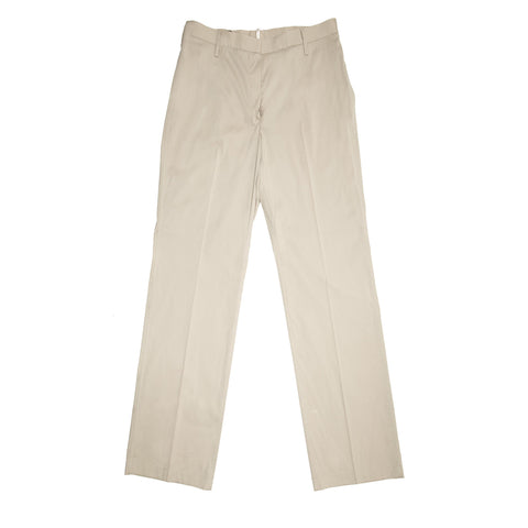 Jil Sander Khaki Cotton Stretch Pants, size 40 (French)