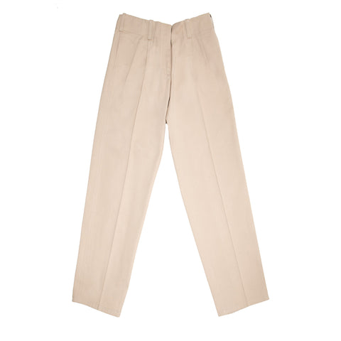 Jil Sander Khaki Heavy Cotton Pants, size 42 (French)