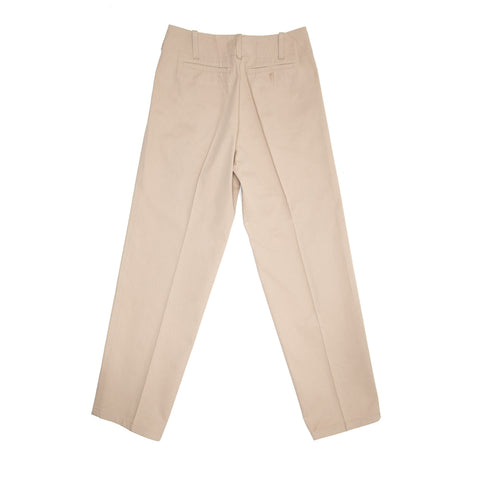 Find authentic preowned Jil Sander Khaki Heavy Cotton Pants, size 42 (French) at BunnyJack, where a portion of every sale goes to charity.