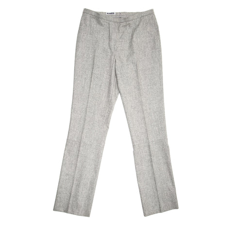 Jil Sander Grey Wool Classic Pants, size 42 (French)