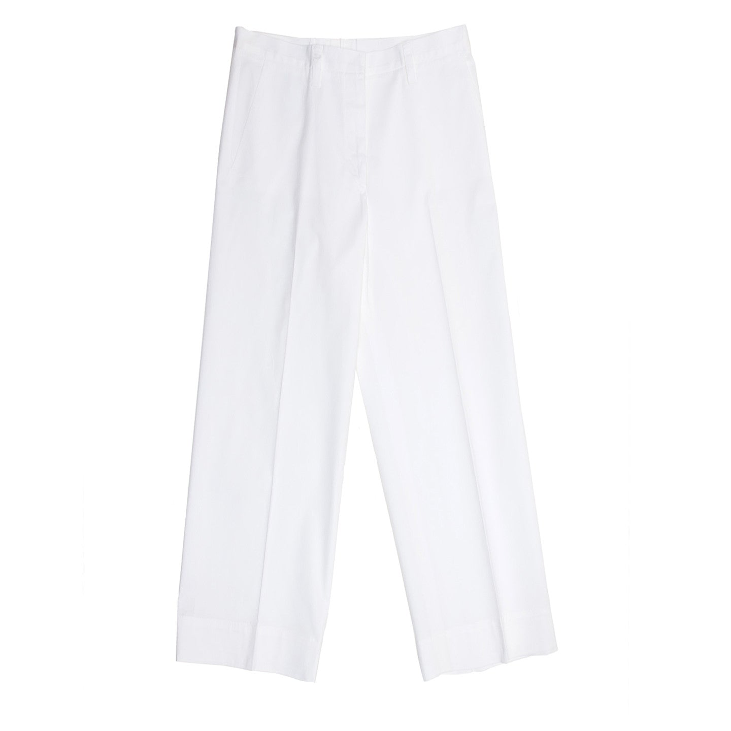 Find authentic preowned Jil Sander White Cotton Cropped Pants, size 44 (French) at BunnyJack, where a portion of every sale goes to charity.