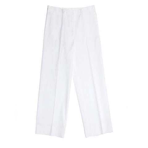 Jil Sander White Cotton Cropped Pants, size 44 (French)