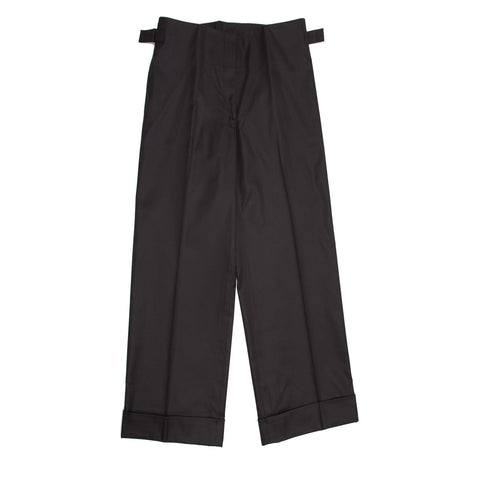 Jil Sander Black Cotton Gaucho Slacks, size 42 (French)