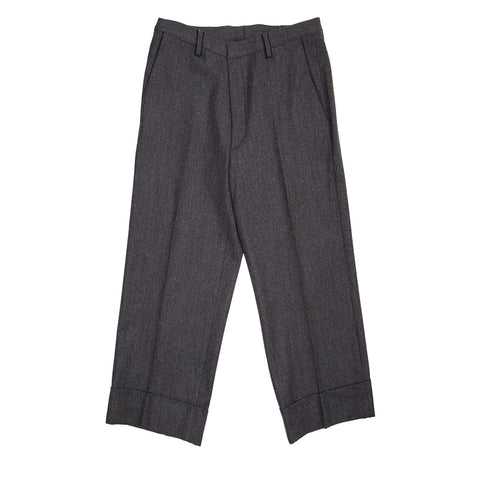 Jil Sander Grey Wool Gaucho Slacks, size 44 (French)