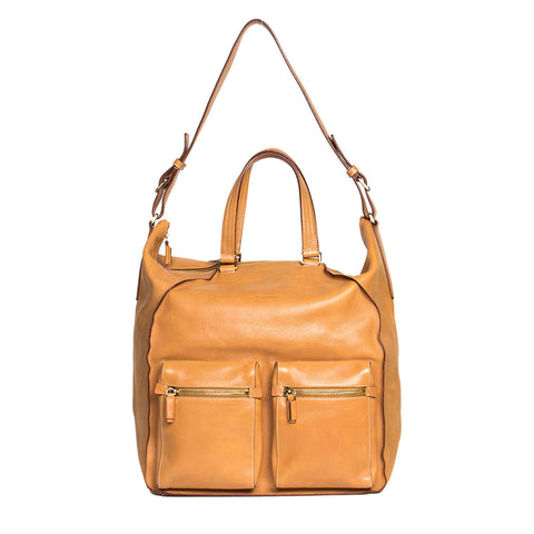 Jil Sander Tan Leather Large Bag