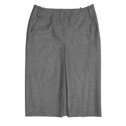 Jil Sander Grey Wool Pleated Skirt, size 42 (French)