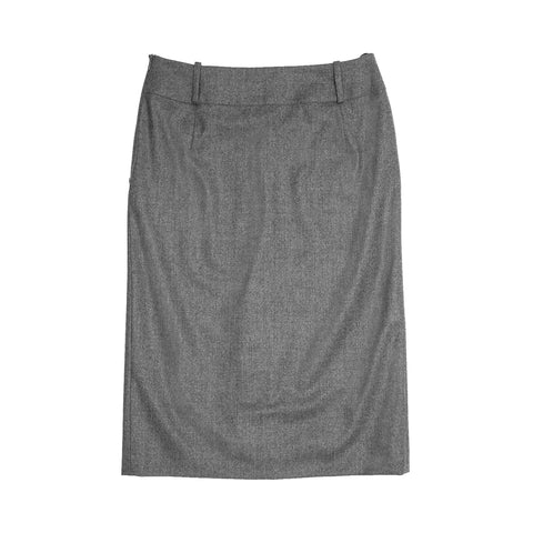Find an authentic preowned Jil Sander Grey Wool Pleated Skirt, size 42 (French) at BunnyJack, where a portion of every sale goes to charity.