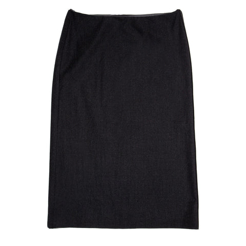 Jil Sander Grey Stretch Wool Skirt, size 42 (French)