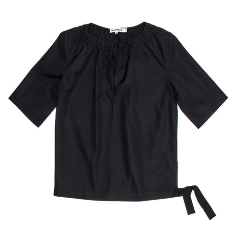 Jil Sander Black Cotton Top, size 40 (French)