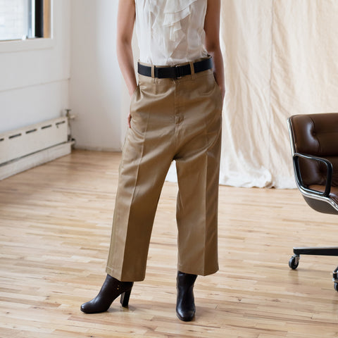 Caramel Cotton Baggy Pants