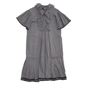 Grey Cotton Jersey Dress