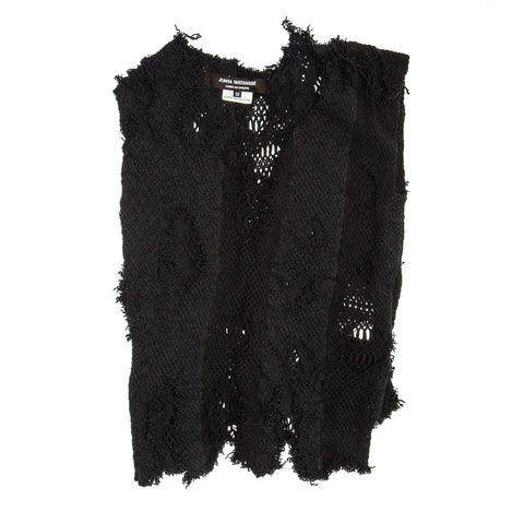 Black Stretch Knit Vest
